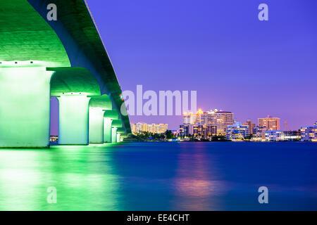 Sarasota, Florida, USA downtown city skyline. - Stock Photo
