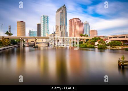 Tampa, FLorida, USA downtown city skyline on the Hillsborough River. - Stock Photo