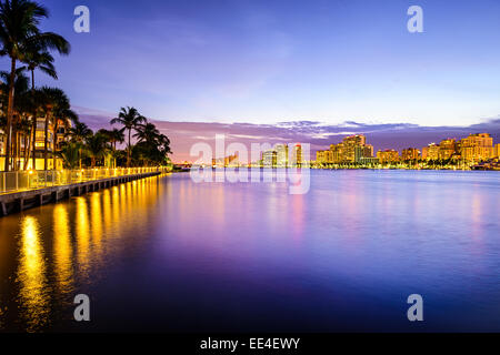 West Palm Beach, Florida cityscape on the Intracoastal Waterway. - Stock Photo