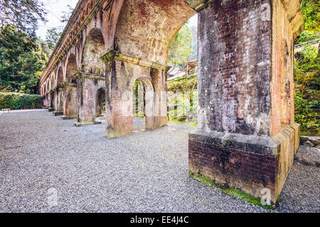 Aqueduct of Nanzenji Temle in Kyoto, Japan. - Stock Photo