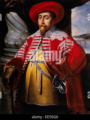 Gustavus Adolphus, Gustav II Adolf, (1594-1632, King of Sweden (1611-32), Portrait, Painting by Matthaus Merian, - Stock Photo