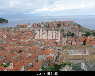 Croatia city of Dubrovnik located on Adriatic Sea - Stock Photo