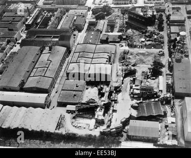 Paramount Studios, High Angle View, Los Angeles, California, USA, 1933 - Stock Photo