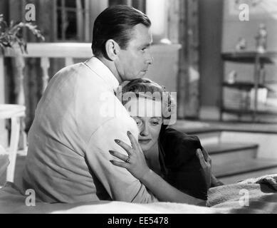 Herbert Marshall, Bette Davis, on-set of the Film, 'The Letter', 1940 - Stock Photo