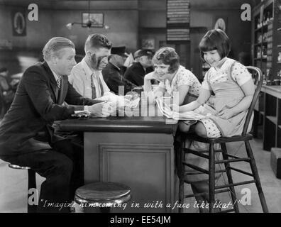 Richard 'Skeets' Gallagher, Stuart Erwin, Clara Bow, Mitzi Green, on-set of the Film, 'Love Among the Millionaires', - Stock Photo