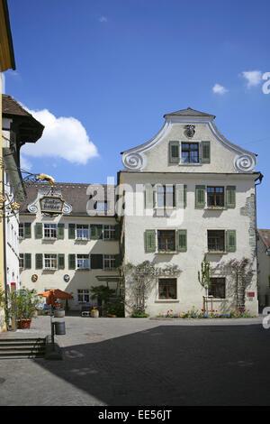 Deutschland, Bodensee, Europa, Oberschwaebische Barockstrasse, Stadt, Sehenswuerdigkeit, Tourismus, Meersburg, Baden - Stock Photo