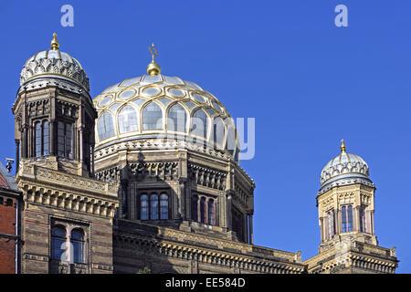 Deutschland, Berlin, Europa, Hauptstadt, Stadt, Sehenswuerdigkeit, Kuppel der neuen Synagoge, Architektur, Aussenaufnahme, - Stock Photo