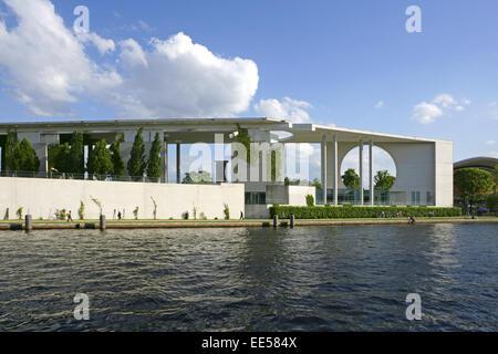 Deutschland, Berlin, Europa, Hauptstadt, Stadt, Sehenswuerdigkeit, Berlin-Tiergarten, neues Bundeskanzleramt, Politik, - Stock Photo
