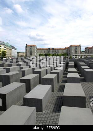 Deutschland, Berlin, Europa, Hauptstadt, Stadt, Sehenswuerdigkeit, Antisemitismus, Architekt Peter Eisenmann, Aussenaufnahme, - Stock Photo