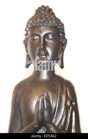 Buddha, Buddhastatue, Buddhismus, Dekoration, dekorativ, Figur, freigestellt, Glaube, glauben, innen, Innenaufnahme, - Stock Photo