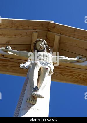 Bildausschnitt, Christus, Detail, Details, Gipfel, Gipfelkreuz, Gipfelkreuze, Glaube, Holz, Jesus, Kreuz, Kreuze, - Stock Photo
