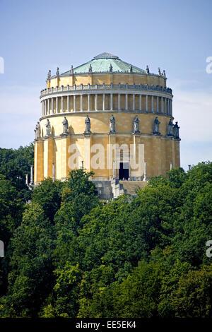 Deutschland, Bayern, Kehlheim, Michelsberg, Befreiungshalle, Detail, Niederbayern, antikisierender Rundbau, erbaut - Stock Photo