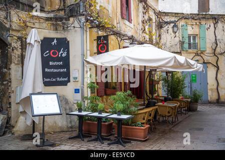 Restaurant, Arles, Bouches-du-Rhone, France - Stock Photo