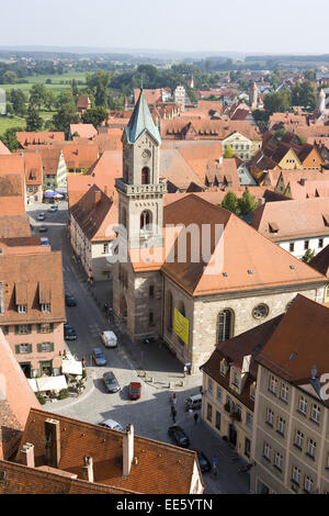 Deutschland, Bayern, Franken, Dinkelsbuehl, Europa, Sueddeutschland, Mittelfranken, Stadt, Innenstadt, Sehenswuerdigkeit, - Stock Photo
