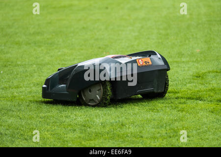 Lawn Mower Robot - Stock Photo