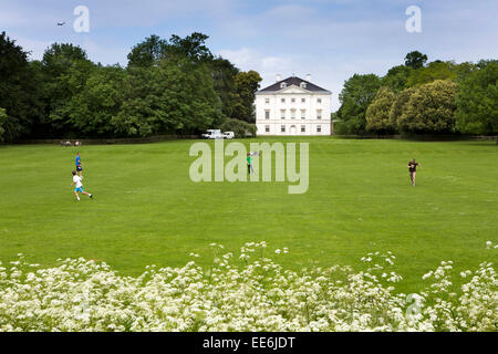 UK, London, Twickenham, Marble Hill House, from the River Thames path - Stock Photo