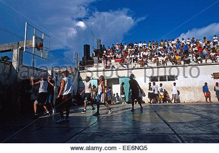 Mexcaltitan, Village basketball match - Stock Photo