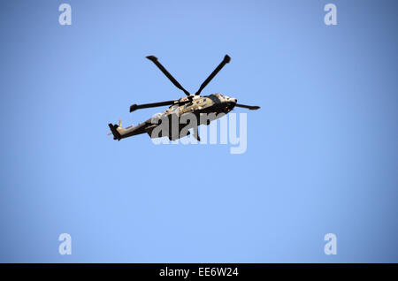 m-17 british army russian made helicopter - Stock Photo