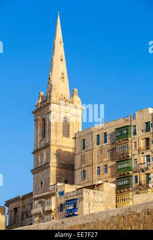 St Pauls Anglican Cathedral Valletta Malta EU Europe - Stock Photo