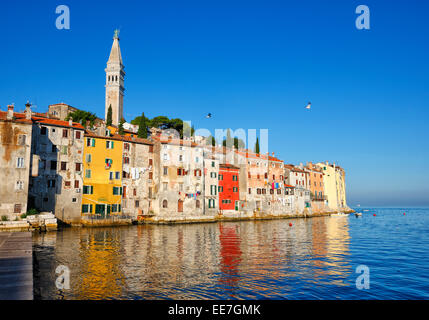 Rovinj old town in Istria, Croatia. - Stock Photo