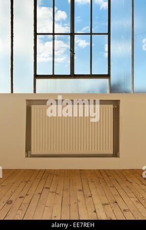 wide open space, detail window - Stock Photo