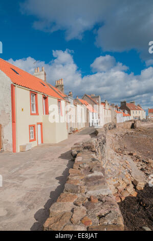 Fishermen's houses West Shore Pittenweem Fife Scotland - Stock Photo