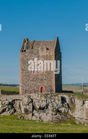 Smailholm Peel Tower nr Kelso Scottish Borders Scotland - Stock Photo