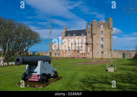 Castle of Mey nr Thurso Caithness Highland Scotland home to the Queen mother - Stock Photo