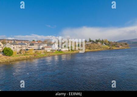 Kyles of Sutherland Bonar Bridge Sutherland Highland which flows into the Dornoch Firth Scotland - Stock Photo