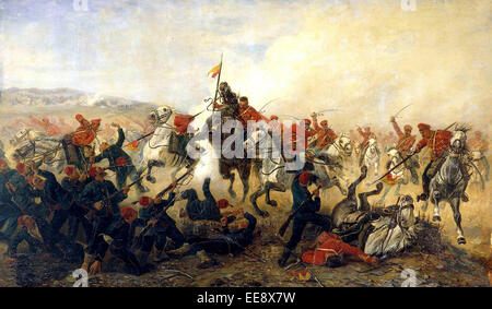 The Battle of Telish, 1877. Fight in Bulgaria during the Russo-Turkish War of 1877-1878 - Stock Photo