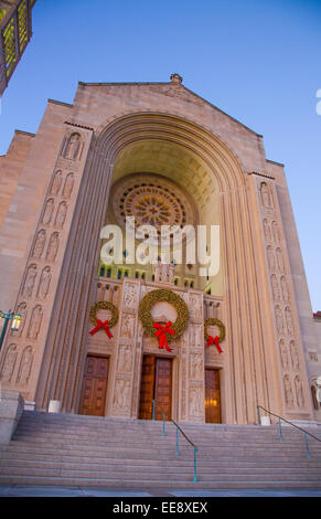 The Basilica of the National Shrine of the Immaculate Conception in Washington DC, United States - Stock Photo