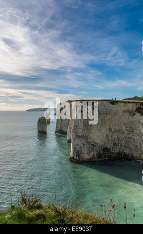 Old Harry Rocks, Swanage, Studland, Dorset - Stock Photo