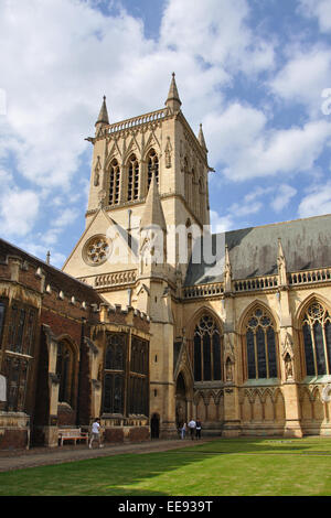 St John's College chapel, Cambridge, England, UK - Stock Photo