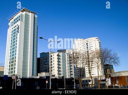Radisson Blu hotel, Cardiff city centre, Cardiff, Wales. - Stock Photo