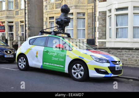 Google street car seen parked up in Bristol. Robert Timoney/AlamyLiveNews. - Stock Photo