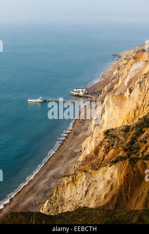 Alum Bay, Isle of Wight. - Stock Photo