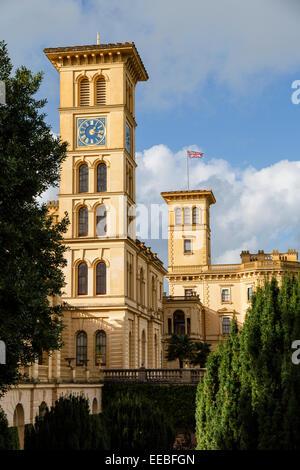 Osborne House, Cowes, Isle of Wight. - Stock Photo