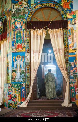 Tekele Haymanot Church, Mekele city, Ethiopia, Afrika - Stock Photo