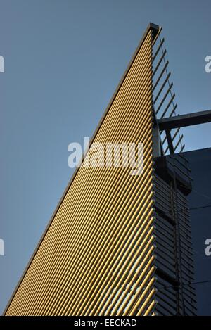 modern architecture London  building panels - Stock Photo