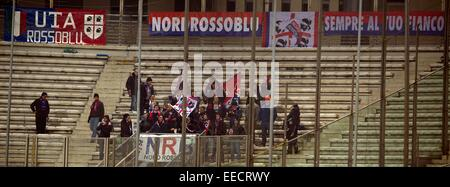 Parma, Italy. 14th Jan, 2015. Cagliari fans Football/Soccer : Coppa Italia (TIM Cup) 5th Round match between Parma - Stock Photo