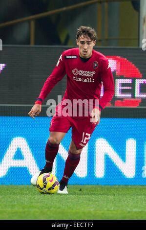 Parma, Italy. 14th Jan, 2015. Alessandro Capello (Cagliari) Football/Soccer : Coppa Italia (TIM Cup) 5th Round match - Stock Photo