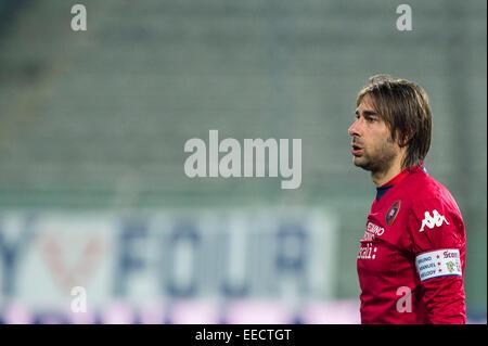 Parma, Italy. 14th Jan, 2015. Daniele Conti (Cagliari) Football/Soccer : Coppa Italia (TIM Cup) 5th Round match - Stock Photo