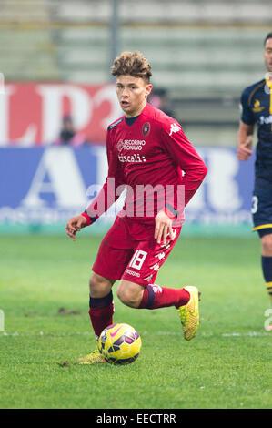 Parma, Italy. 14th Jan, 2015. Nicolo Barella (Cagliari) Football/Soccer : Coppa Italia (TIM Cup) 5th Round match - Stock Photo