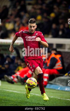 Parma, Italy. 14th Jan, 2015. Nicola Murru (Cagliari) Football/Soccer : Coppa Italia (TIM Cup) 5th Round match between - Stock Photo