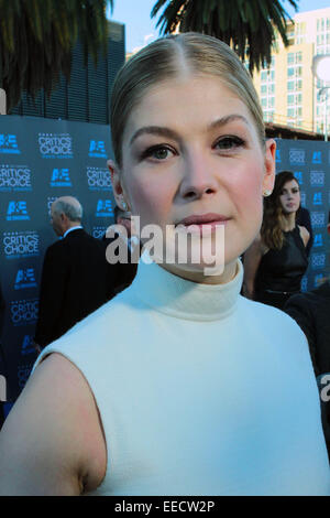 Los Angeles, California, USA. 15th Jan, 2015. Rosamund Pike attends 20th Annual Critics' Choice Awards held at The - Stock Photo