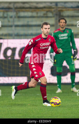 Parma, Italy. 14th Jan, 2015. Josef Husbauer (Cagliari) Football/Soccer : Coppa Italia (TIM Cup) 5th Round match - Stock Photo