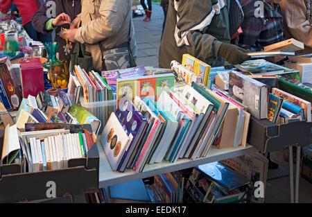 Secondhand books for sale York North Yorkshire England UK United Kingdom GB Great Britain - Stock Photo