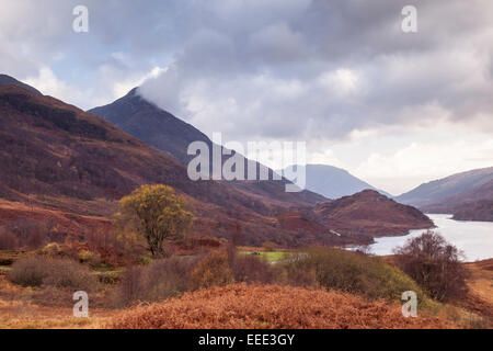 Mountainous area around Loch Leven in the Scottish Highlands, UK. - Stock Photo