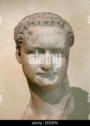 Domitian 81 AD  ( Titus Flavius Caesar Domitianus Augustus 51 – 96) Roman emperor  Rome Capitoline Museum Italy - Stock Photo
