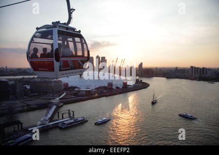 Emirates Air-Line cable car - Stock Photo